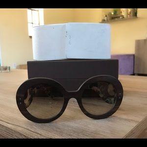 Prada Wood Baroque Sunglasses
